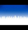 Christmas tree snow blue sky vector image