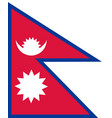 flag of nepal in national colors vector image