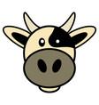 simple cartoon of a cute cow vector image