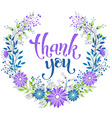 Thank you wreath vector image