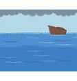Ark in the Rainy Sea vector image