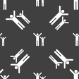 happy family icon sign Seamless pattern on a gray vector image
