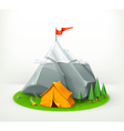 A journey to the mountains vector image vector image