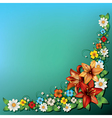 abstract spring floral background with flowers on vector image vector image