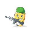 army mango character cartoon mascot vector image
