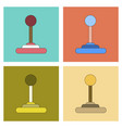 assembly flat icon game joystick vector image vector image