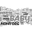 baby monitor technology text word cloud concept vector image vector image