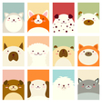 Banner background with cute dogs vector image vector image