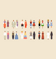 big set of national costumes part 2 vector image