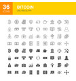 bitcoin line web glyph icons vector image vector image