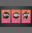 black friday sale posters with abstract 3d element vector image