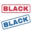 Black Rubber Stamps vector image vector image