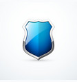 blue metal shield icon vector image