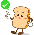 Bread 11 Isolated happy smile shop right Slice of vector image vector image