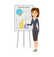 Business woman silhouette vector image vector image