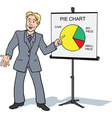 businessman presentation vector image vector image