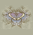 butterfly hand drawing vector image vector image