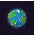 Cartoon earth concept vector image vector image
