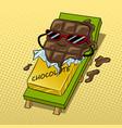 chocolate melts beach pop art vector image vector image