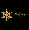 christmas banner with glitter snowflake vector image vector image