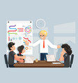 coaching business meeting ideas solution searching vector image