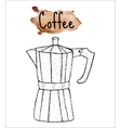 Coffee geyser coffee sketch The inscription of vector image vector image