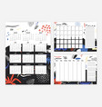 collection of year 2019 calendar monthly and vector image