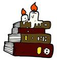 comic cartoon spooky old books vector image vector image