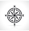 compass rose line sign icon vector image vector image