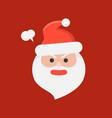 cute santa claus emoticon flat design vector image vector image