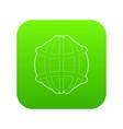 earth icon green vector image vector image
