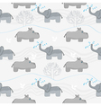 Elephants and hippos vector | Price: 1 Credit (USD $1)