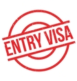 Entry Visa rubber stamp vector image vector image