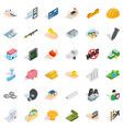fellowship icons set isometric style vector image vector image