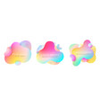 futuristic colorful abstract liquid element set vector image