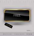 Gold button with black glossy inside vector image vector image