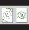 greenery cards eucalypthus wedding invitation set vector image