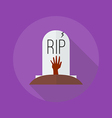 Halloween Flat Icon Grave vector image