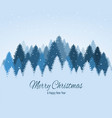 landscape with blue snowy pines firs coniferous vector image
