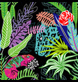 leopard chameleon meet pattern vector image vector image
