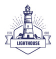 lighthouse monochrome isolated icon striped beacon vector image