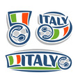 Logo for italian football vector image