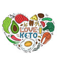 love keto - hand drawn inscription ketogenic diet vector image vector image