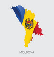 map moldova vector image