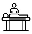 relaxing massage icon outline style