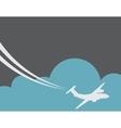 Retro Airplane Banner vector image vector image