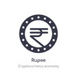 rupee icon isolated icon from