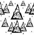 seamless pattern of mountains vector image vector image