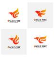 set of phoenix fire bird logo design concepts vector image vector image