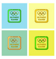 sign symbol olympics games set vector image vector image